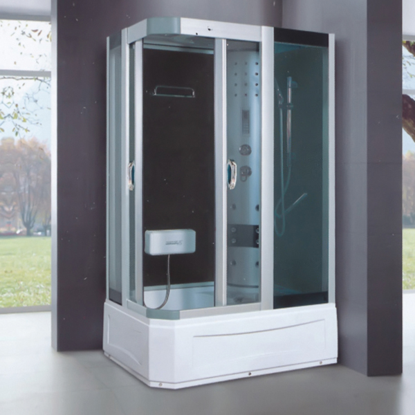 Sand Silver Aluminum Alloy Framed Shower Cabin-LX-7012