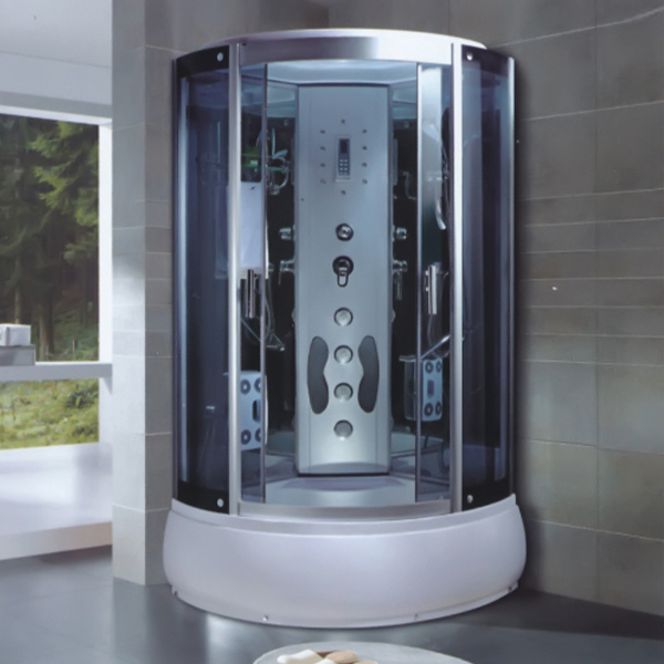Grey Tempered Glass Shower Cabin-LX-7015