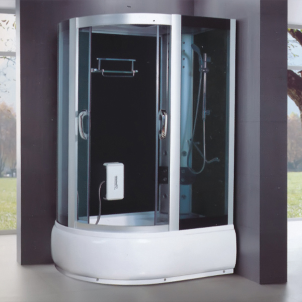 D Shaped Polished Aluminum Alloy Shower Room-LX-7035
