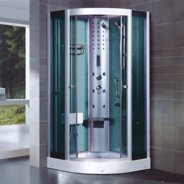 Light Silver Aluminum Alloy Shower Cabin With A Low Tray-LX-7042