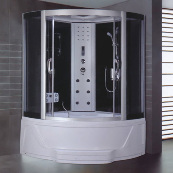 Sector Shaped Tempered Glass Shower Cabin-LX-8009