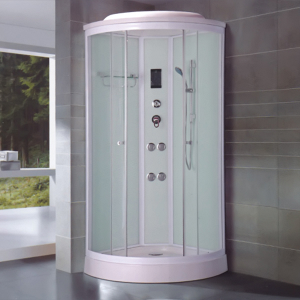 White Aluminum Alloy Frame Shower Cabin-LX-8010