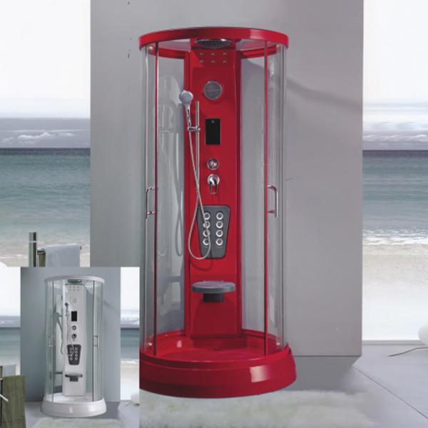 Red Aluminum Alloy Frame Shower Cabin-LX-8011