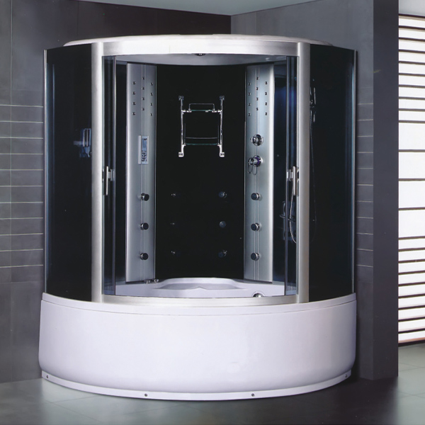 Big Size Sand Silver Aluminum Alloy Shower Cabin-LX-8036