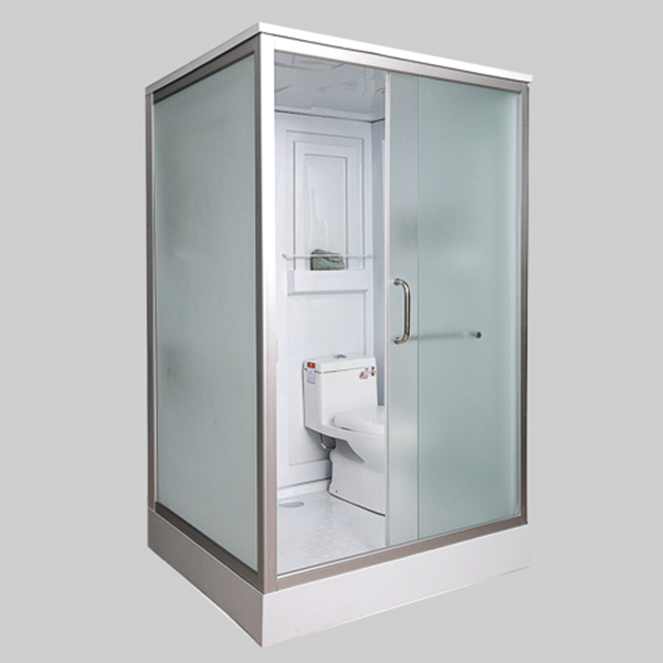 Frosted Glass Aluminum Alloy Shower Cabin With Toliet-LX-8049