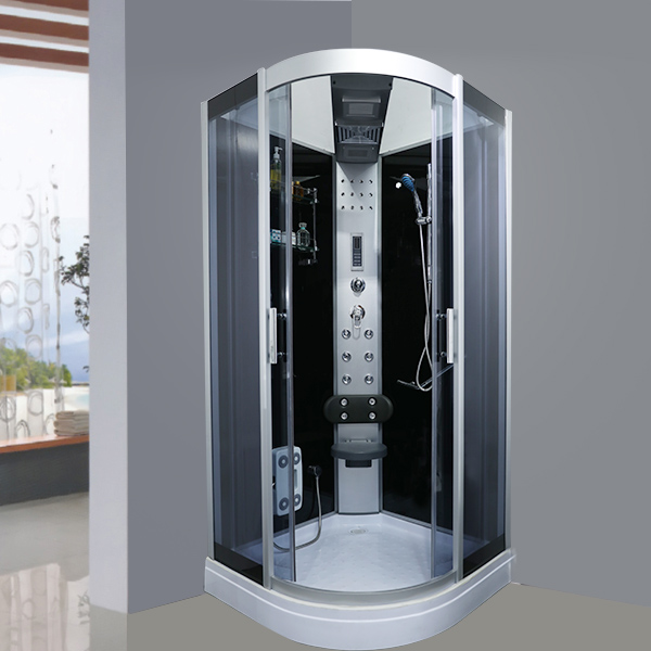 Sector Shaped Pattern Glass Shower Enclosure